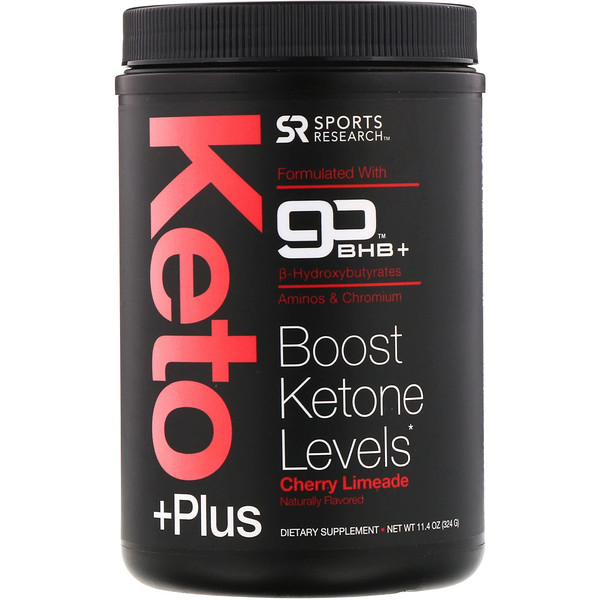 Sports Research, Keto Plus, GO BHB +, Cherry Limeade, 11.4 oz (324 g) (Discontinued Item)