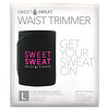 Sports Research, Sweet Sweat Waist Trimmer, Large, Black & Pink, 1 Belt