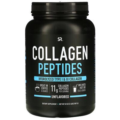Купить Sports Research Коллагеновые пептиды, без вкусовых добавок, 32 унции (2 фунта)