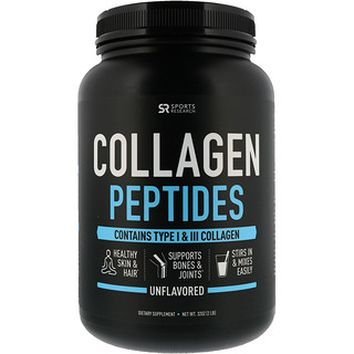 Sports Research, Collagen Peptides, Unflavored, 2 lbs (32 oz)