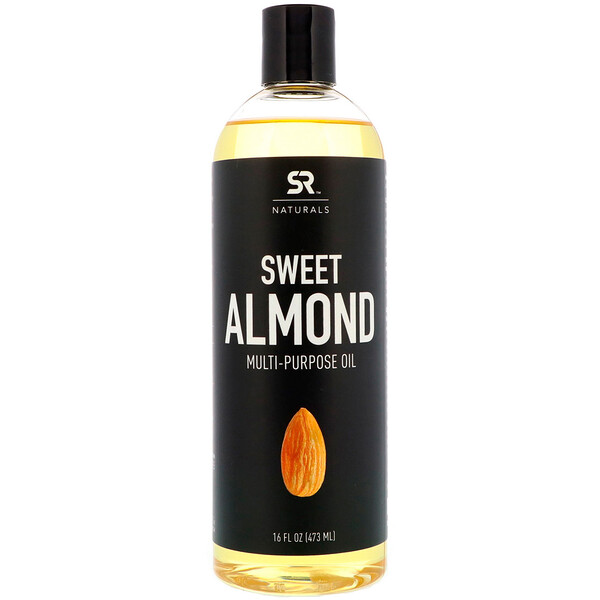 Sports Research, Aceite de almendra dulce multipropósito, 16 fl oz (473 ml)