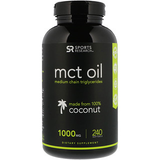 Sports Research, MCT Oil, 1000 mg, 240 Softgels