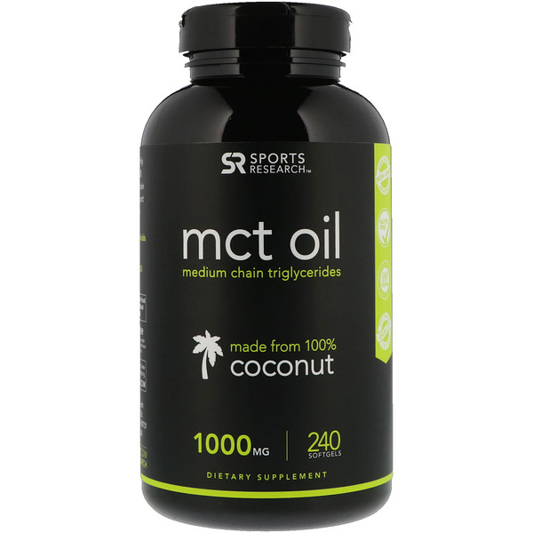 Sports Research, MCT Oil, 1,000 mg, 240 Softgels (Discontinued Item)