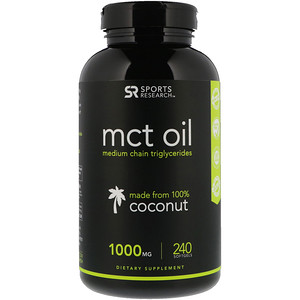 Спортс Ресерч, MCT Oil, 1,000 mg, 240 Softgels отзывы