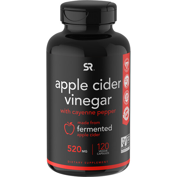 Apple Cider Vinegar with Cayenne Pepper, 520 mg, 120 Veggie Capsules