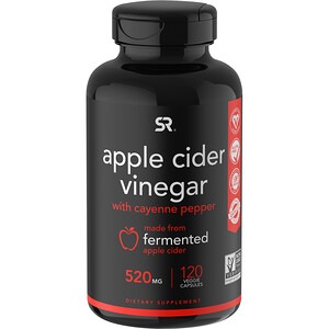 Спортс Ресерч, Apple Cider Vinegar with Cayenne Pepper, 520 mg, 120 Veggie Capsules отзывы