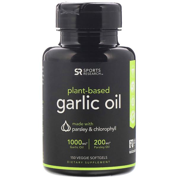 Plant-Based, Garlic Oil with Parsley & Chlorophyll, 150 Veggie Softgels