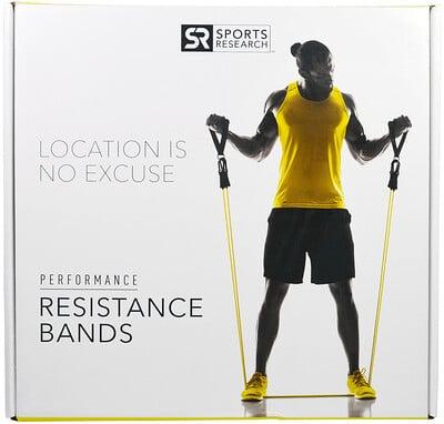 Sports Research Лента-эспандер для спорта, 5 шт.
