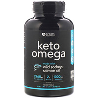 Sports Research, Keto Omega with Wild Sockeye Salmon Oil, 120 Softgels