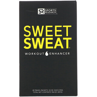 Sports Research, Sweet Sweat Workout Enhancer, 20 Travel Packets, 0.53 oz (15 g) Each