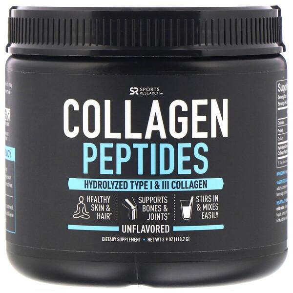 Péptidos de colágeno, Sin sabor, 3,9oz (110,7g)