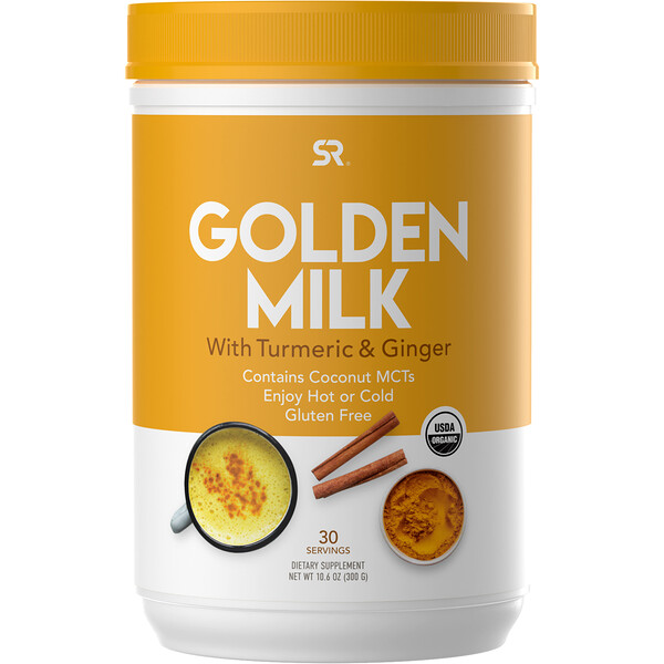 Golden Milk with Turmeric & Ginger, 10.6 oz (300 g)