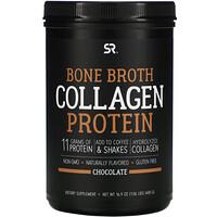 Sports Research, Bone Broth Collagen Protein, Chocolate, 16.9 oz (480 g)