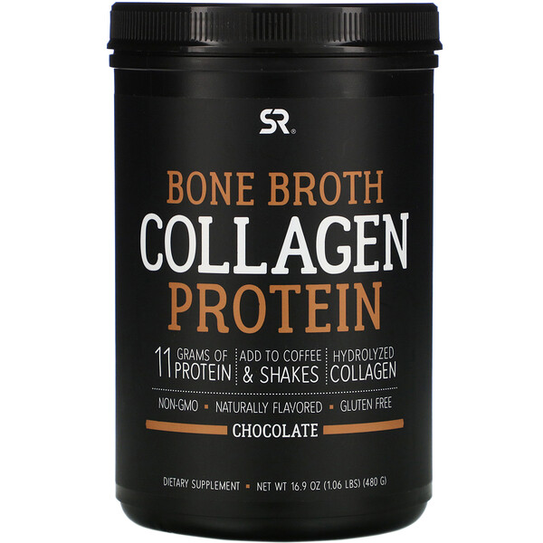 Bone Broth Collagen Protein, Chocolate, 1.06 lb (480 g)