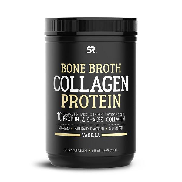 Bone Broth Collagen Protein, Vanilla, 13.8 oz (390 g)