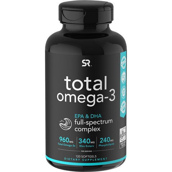 Sports Research, Total Omega-3, 120 Softgels