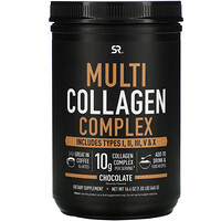 Sports Research, Multi Collagen Complex, Chocolate, 1.03 lb (465 g)