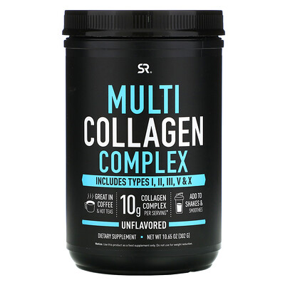 Купить Sports Research Multi Collagen Complex, Unflavored, 10.65 oz (302 g)