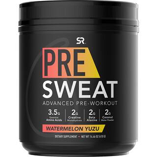 Sports Research, Pre-Sweat Advanced Pre-Workout, Watermelon Yuzu, 14.46 oz (410 g)