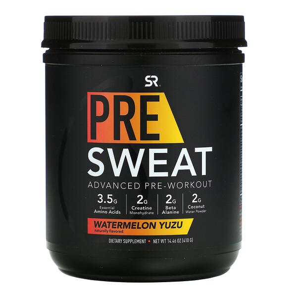 Pre-Sweat Advanced Pre-Workout, Watermelon Yuzu, 14.46 oz (410 g)