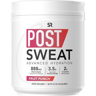 Sports Research, Post-Sweat Advanced Hydration, Fruit Punch, 16.9 oz (480 g)