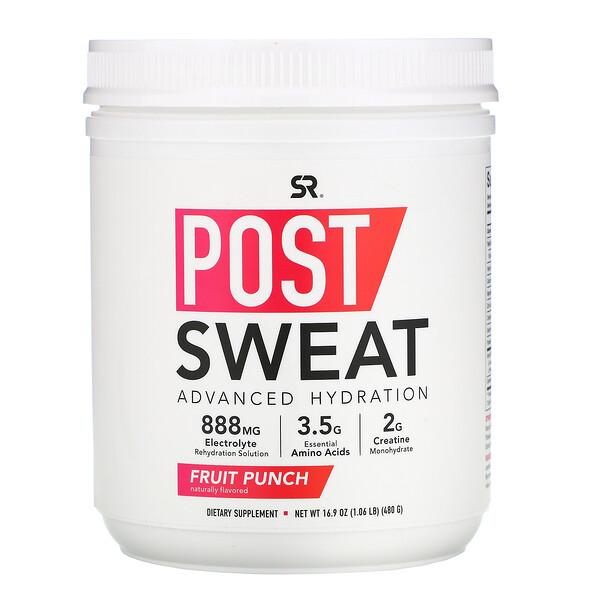 Post-Sweat Advanced Hydration, Fruit Punch, 16.9 oz (480 g)