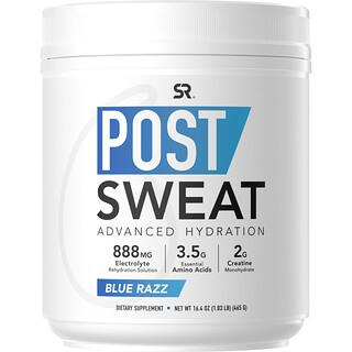 Sports Research, Post-Sweat Advanced Hydration, Blue Razz, 16.4 oz (465 g)