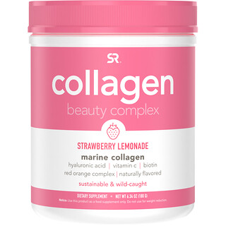 Sports Research, Collagen Beauty Complex, Marine Collagen, Strawberry Lemonade, 6.34 oz (180 g)