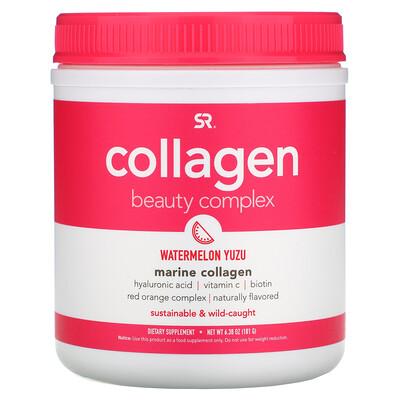 Купить Sports Research Collagen Beauty Complex, Marine Collagen, Watermelon Yuzu, 6.38 oz (181 g)