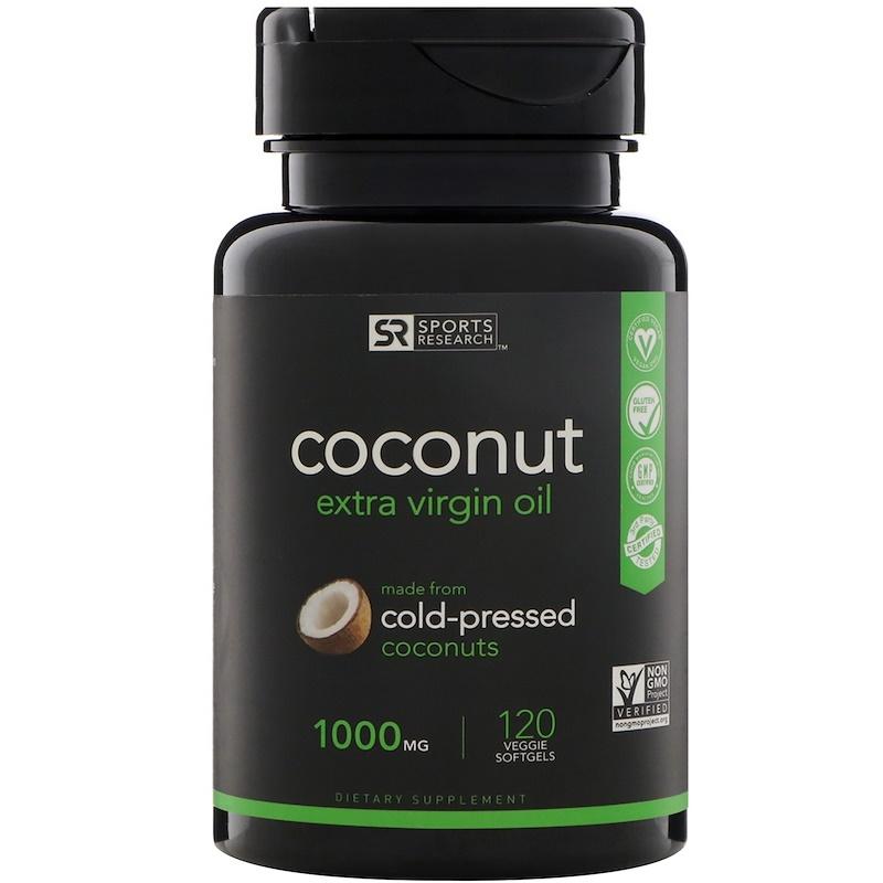 Extra Virgin Coconut Oil, 1,000 mg, 120 Veggie Softgels