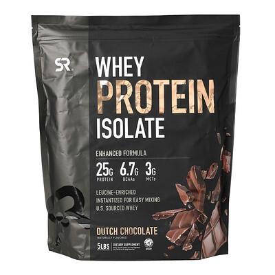Купить Sports Research Whey Protein Isolate, Dutch Chocolate, 5 lbs (1.27 kg)