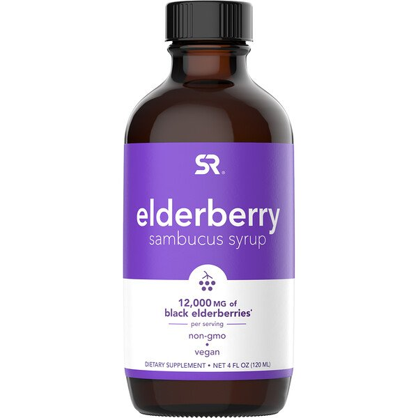 Elderberry Sambucus Syrup, 12,000 mg, 4 fl oz (120 ml)