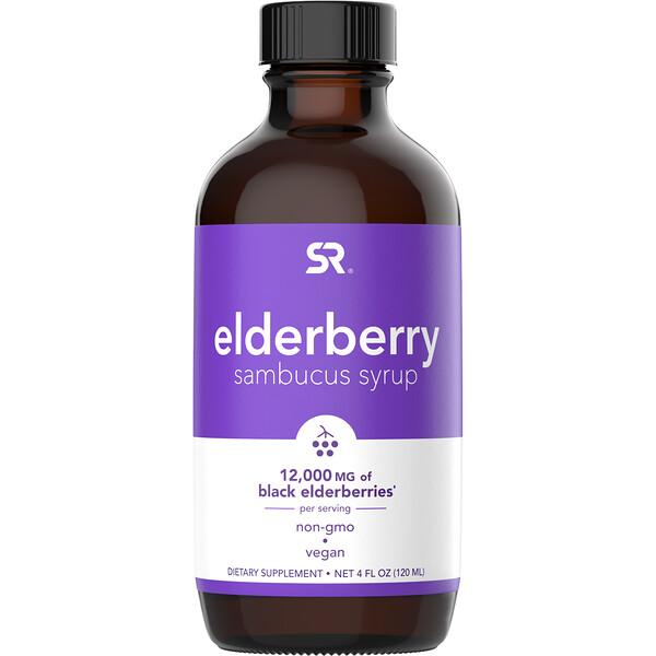 Sports Research, Elderberry Sambucus Syrup, 12,000 mg, 4 fl oz (120 ml)