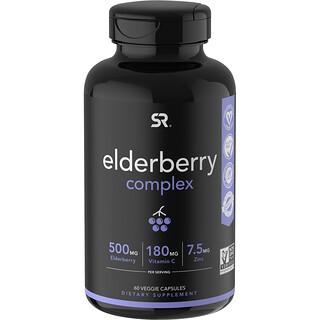 Sports Research, Elderberry Complex, 60 Veggie Capsules