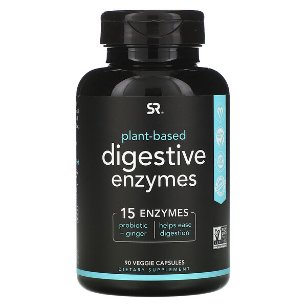 Digestive Enzymes, Plant-Based, 90 Veggie Capsules