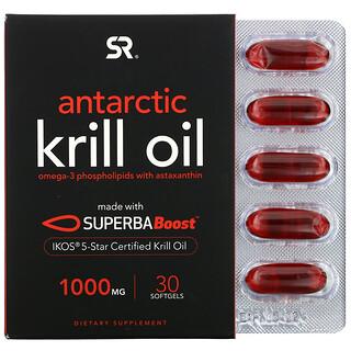 Sports Research, SUPERBA Boost 南極磷蝦油,含蝦青素,1,000 毫克,30 粒軟凝膠