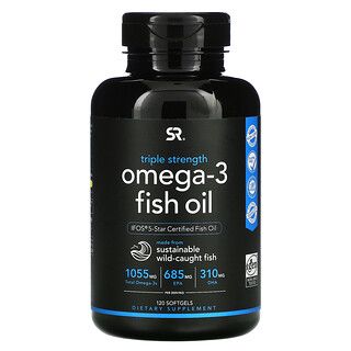 Sports Research, Omega-3 Fish Oil, Triple Strength, 1,250 mg , 120 Softgels