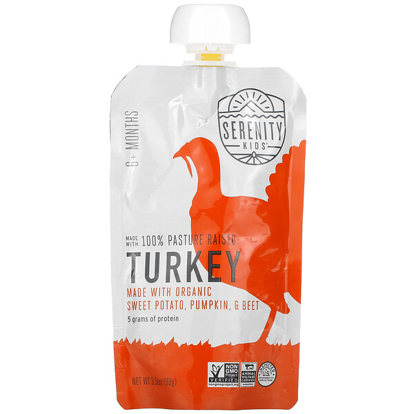 Turkey with Organic Sweet Potato, Pumpkin, & Beet, 6+ Months,  3.5 oz (99 g)