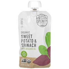 Serenity Kids, 有機甘薯和菠菜,配鱷梨油,6 月齡以上,3.5 盎司(99 克)
