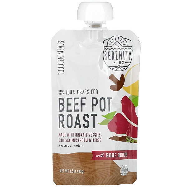 Beef Pot Roast with Bone Broth, Toddler Meals, 3.5 oz (99 g)