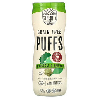 Serenity Kids, Grain Free Puffs, Broccoli & Spinach, 1.5 oz (43 g)