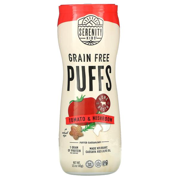 Serenity Kids, Grain Free Puffs, Tomato & Mushroom, 1.5 oz (43 g)