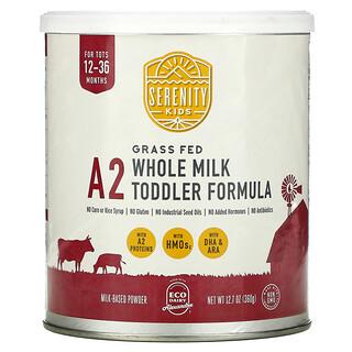 Serenity Kids, A2 Whole Milk Toddler Formula, 12-36 Months, 12.7 oz (360 g)