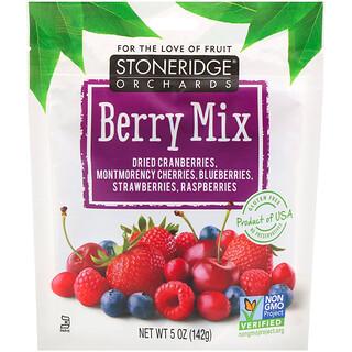 Stoneridge Orchards, Berry Mix، التوت الكامل المجفف المختلط، 5 أوز (142 جرام)