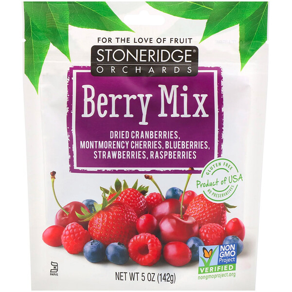 Berry Mix, Whole Dried Mixed Berries, 5 oz (142 g)