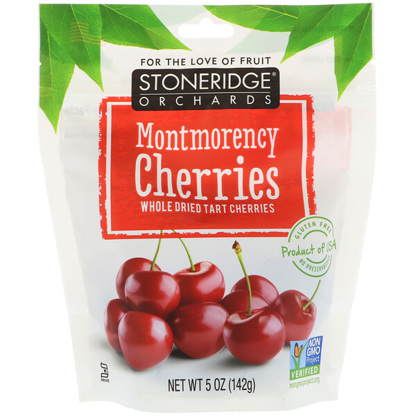 Cerezas Montmorency, Cerezas enteras deshidratadas, 5 oz (142 g)