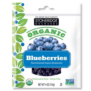 Stoneridge Orchards, Organic Blueberries, 4 oz (113 g)