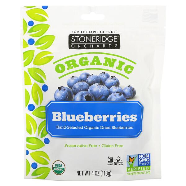 Stoneridge Orchards, توت أزرق عضوي، 4 أوز (113 جرام)