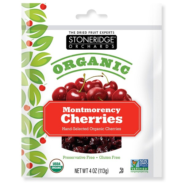Stoneridge Orchards, Organic Montmorency Cherries, 4 oz (113 g)