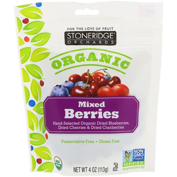 Stoneridge Orchards, Biologique, fruits mélangés, 113 g (4 oz)